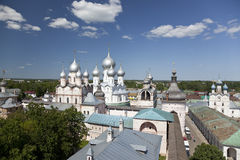 A top view of the Kremlin of Rostov the Great Stock Image