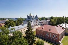 Top view of the Kremlin in Veliky Novgorod, Stock Photo