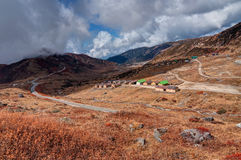 Top view of Kupup valley, Sikkim, Himalayan mountain range Stock Photo