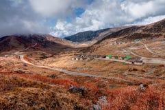 Top view of Kupup valley, Sikkim, Himalayan mountain range Stock Photos