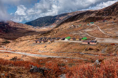 Top view of Kupup valley, Sikkim, Himalayan mountain range Royalty Free Stock Photography