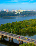 Top view of Kyiv, Ukraine Royalty Free Stock Images