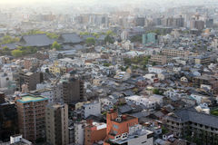 Top view of Kyoto Japan Royalty Free Stock Photo
