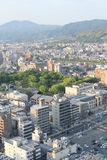Top view of Kyoto Japan Stock Image