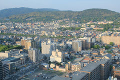 Top view of Kyoto Japan Royalty Free Stock Image