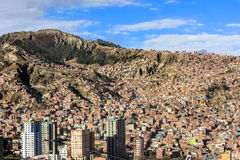 Top view of La Paz, Bolivia Royalty Free Stock Photo