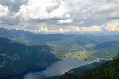 Top view of Lake Bohinj royalty free stock photo