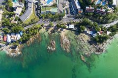 Top view landscape of Beautiful tropical sea in summer season image by Aerial view drone shot, high angle view.  royalty free stock images