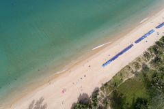 Top view landscape of Beautiful tropical sea in summer season image by Aerial view drone shot, high angle view.  royalty free stock photo