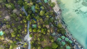 Top view landscape of Beautiful tropical sea in summer season image by Aerial view drone shot, high angle view stock photos