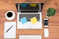 Top view laptop or notebook workspace office Stock Photography