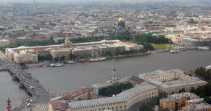 Top view of large city in northern Europe, aerial photography. Russia, Saint Petersburg - July 19, 2007: Northern European megapolis Cityscape top view  aerial Stock Image