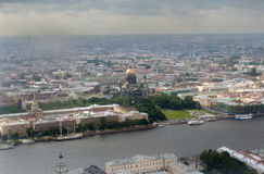 Top view of a large Russian city of St. Petersburg Royalty Free Stock Images