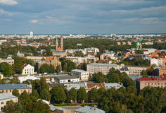 Top view of Latgale suburb, Riga, Latvia Stock Photography