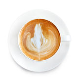 Top view latte art coffee Royalty Free Stock Photography