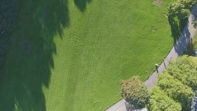 Top view of the lawn and House stock video