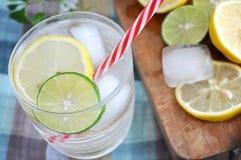 Top view of lemonade glass Stock Photos