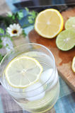 Top view of lemonde glass Royalty Free Stock Images