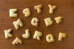 Top view of Letter Biscuits Royalty Free Stock Photo