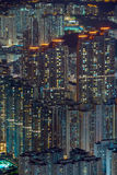 Top view from The lion rock park, sunset onver Kowloon and Hong Royalty Free Stock Photography