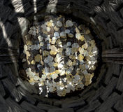 Wishing Well With Coins Top Stock Images