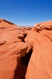 Top view on Lower Antelope Canyon Royalty Free Stock Photo
