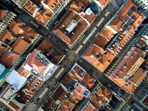 Top View of Lower Town, Lisbon, Portugal.  Royalty Free Stock Image