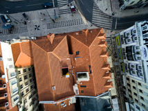 Top View of Lower Town, Lisbon, Portugal.  Stock Images