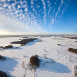 Top view of the lowland in winter Stock Photography