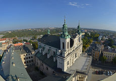 Top view of Lublin (Poland) Stock Image