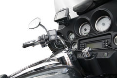 Top view of a luxurious motorcycle Royalty Free Stock Photography