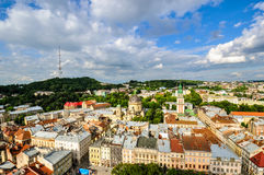 Top view of the Lviv, Ukraine Stock Photo