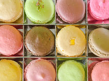 Top View of Macaron in Box Stock Photography