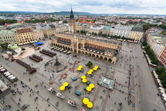 Top view on main market square Krakow Stock Photo