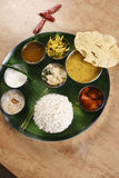 Top View of Malabar Thali Royalty Free Stock Photos
