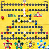 Top view of Malefiz - family board game Royalty Free Stock Images