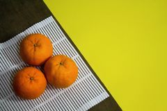 Top view of Mandarin oranges Royalty Free Stock Image
