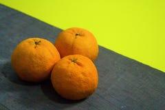 Top view of Mandarin oranges Stock Photo