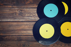 Top view of many records. Royalty Free Stock Photo