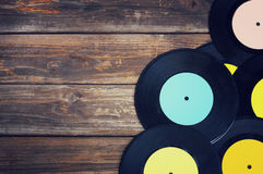 Top view of many records Royalty Free Stock Photo