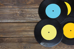 Top view of many records. Stock Images