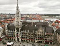 Top View Marienplatz stock photography