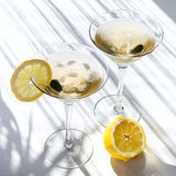 Top view of martini alcohol cocktail Royalty Free Stock Photography