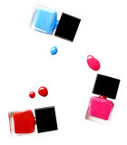 Top view of matte nail polish on white background (clipping path). Royalty Free Stock Photo