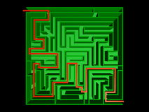 Top view of the maze Stock Photography