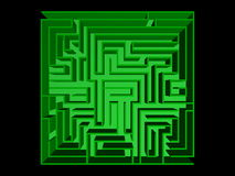 Top view of the maze Royalty Free Stock Photography