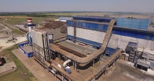 Top view of a metallurgical plant stock footage