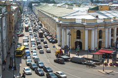 Top view of the Metro and mall Gostiny Dvor on Nevsky Prospect Royalty Free Stock Photography