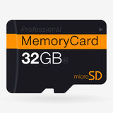 Top View of Micro SD. Memory Card  on White Stock Image
