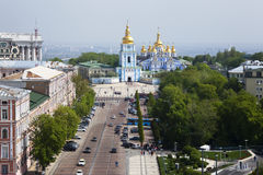 A top view of the Mikhailovsky monastery. Kiev Royalty Free Stock Photos